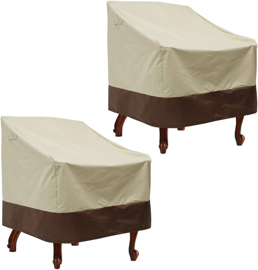 willstar Patio Chair Cover 2 PCS Outdoor High New Orleans Mall Waterproof De New product type Back