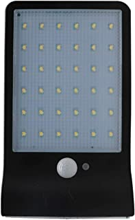 Solar Wall Light Garden Garden Light 36LED Ultra-Thin Waterproof Human Body Induction Street Light (Black)