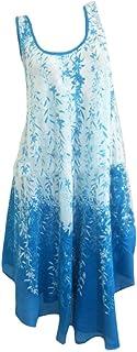 Doufine Women Sleeveless Swing Floral Print Summer Casual Mid Length Dress