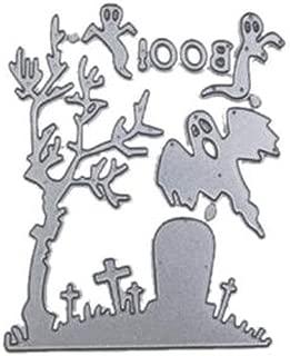 Metal Cutting Dies Christmas Words Stencil Metal Merry Christmas Die Cut DIY Scrapbooking Paper Card Stencil Album (Halloween H, As Shown)