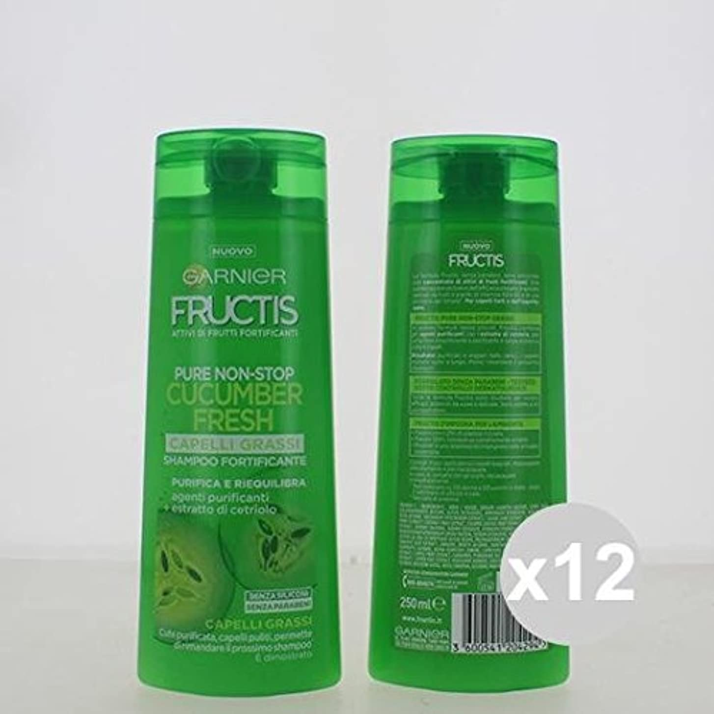 交差点ペグ幾分12 Fructisシャンプー250脂肪髪シャンプーとコンディショナー髪製品のセット