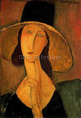 Elite-Paintings Modigliani CA5XX6EJ Artista Quadro Riproduzione Dipinto Olio su Tela A Mano 60x40cm Alta qualita