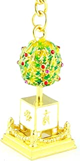 Feng Shui Bejeweled Wealth Granting Tree Amulet Keychain