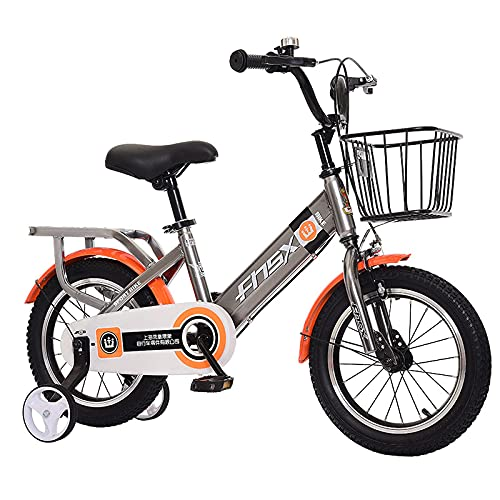 DGHJK Bicicletta per Bambini per 3-12 Anni 12 14 16 18 Pollici Bicicletta per Bambini con Ruote da Allenamento o Cesto per cavalletto Bicicletta per Bambini (Dimensioni: 12 Pollici,Colore: Blu)