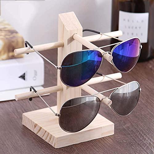ADSE Joyero Marcos de Madera Maciza para anteojos, Soporte de exhibición de anteojos, Soporte de exhibición de Gafas de Sol, Estantes de Almacenamiento