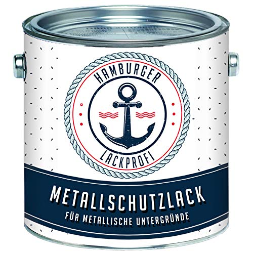 Metallschutzlack GLÄNZEND Karminrot RAL 3002 Rot Metallschutzfarbe Metalllack Metallfarbe // Hamburger Lack-Profi (1 L)
