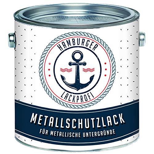 Metallschutzlack GLÄNZEND Staubgrau RAL 7037 Grau Metallschutzfarbe Metalllack Metallfarbe // Hamburger Lack-Profi (1 L)