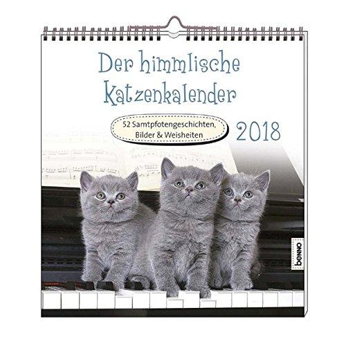 Der himmlische Katzenkalender 2018: 52 Samtpfotengeschichten, Bilder & Weisheiten
