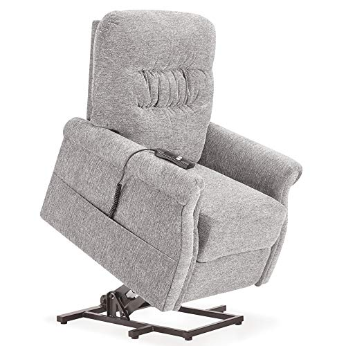 Merax Electric Power Lift Recliner Chair Lazy Sofa for Elderly, with Massage and Heat, Office or Living Room, Grey