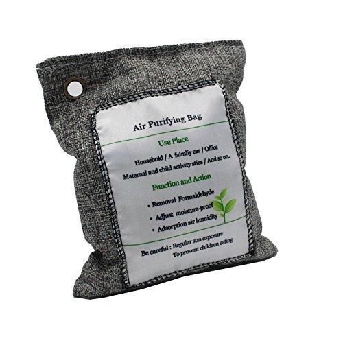 TAKPART 1 x200g natürlicher Bambus Luftentfeuchter Geruchsentferner mit Aktivkohle,perfekter Geruchsneutralisierer für Auto,Schuhe, Schrank und Sporttasche