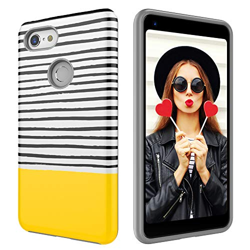 Case for Google Pixel 3,Digital Hutty Dual Layer Shockproof Heavy Duty Protective Cover for Google Pixel 3 Yellow