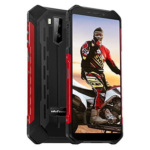 Ulefone Armor X5 Pro Rugged Smartphone 4GB+64GB(256GB) 5,5 Pollice HD Cellulare Antiurto 4G 5000mAh Telefono Resistente IP68/IP69K/Dual SIM/GPS/NFC/OTG-Rosso