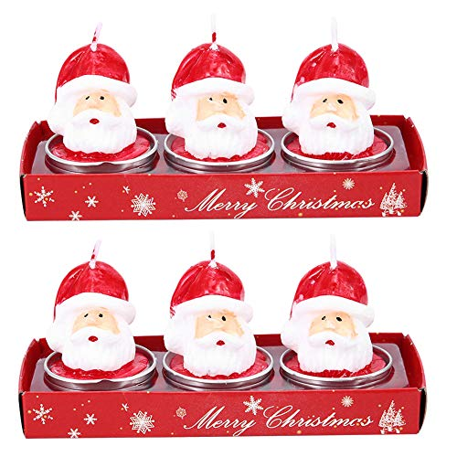 DERCLIVE Christmas Candles for Home Scented for Women Santa Claus Head Shaped Candle Wax Decor Room Table Party Christmas Ornament Gifts for Mom Best Friend Wife Sister Birthday Xmas