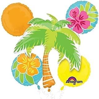 Anagram Hawaiian Tropical Island Luau Party 5pc Balloon Pack - Decorations