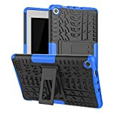 Maomi for Amazon Fire 7 case 2019 2017 Release (9th/7th Generation),Kickstand Shock-Absorption Heavy Duty Armor Defender Cover for Kindle fire 7 Inch Tablet (Blue)