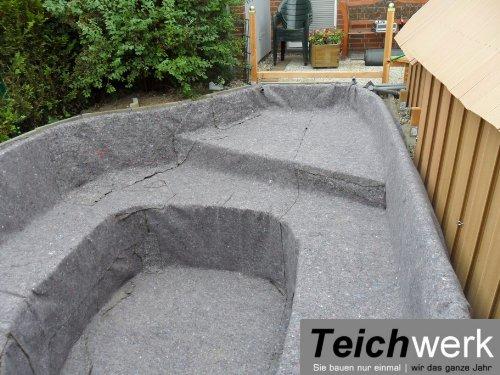 10 qm Teichvlies 300 g/qm | Premium Schutzvlies – 2 m breit x 5 m lang - 4