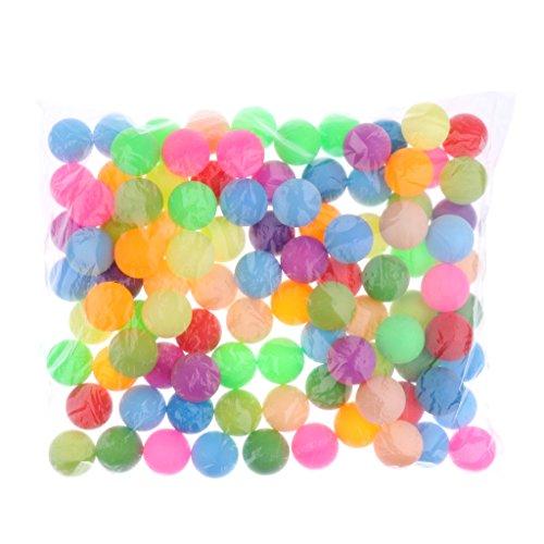 Sharplace Bunt Tischtennisbälle ohne Aufdruck Trainingsbälle 40mm, 100er / Set