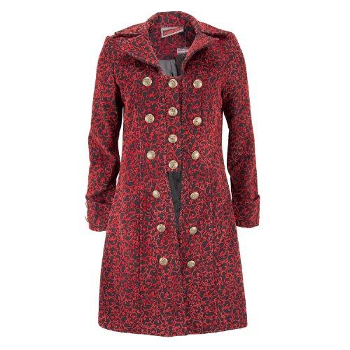 Jawbreaker korte mantel Ornament Coat JKA3826 zwart-rood