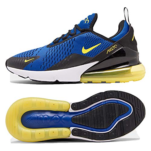 NIKE Mens Air Max 270 Running Shoes (10 M US, Game Royal/Dynamic Yellow)