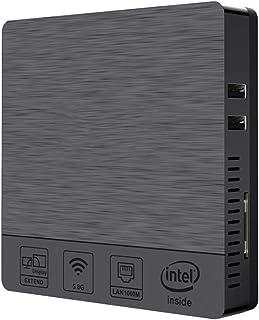 LoMe Mini PC, Win 10 Intel Atom Z8350-X5 4 GB DDR3 de 64 GB 2,4 + 5,8 GHz WiFi Bluetooth 4.0 del Ordenador de Escritorio E...