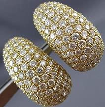 MASSIVE 9.50CT DIAMOND 18K YELLOW GOLD 3D CLIP ON EARRINGS E/F VVS #23438