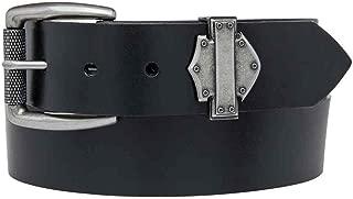 Harley-Davidson Men's Forged Bar & Shield Belt, Black Leather HDMBT10897-BLK