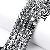 Piedras preciosas Malaquita gris de artesanía 8/6 / 4mm Perlas sueltas Piedra natural para la pulsera de bricolaje Collar de joyería que hace accesorios de encanto ( Item Diameter : 8mm(20pcs) )