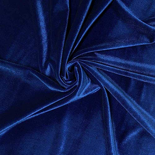 Truly a Royal Blue Stretch Velvet Fabric 60' Sold by The Yard Great Hand