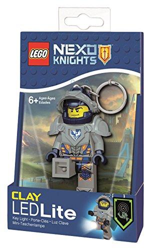 Lego Nexo Knights- Portachiavi con Luce, LGL-KE87