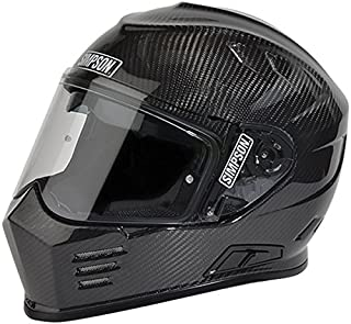 SIMPSON SPEEDWAY RX HELMET SNELL SA2010 GLOSS BLACK L LARGE 60cm @ HELMET WORLD