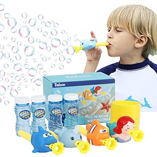 Tinleon Máquina de Burbujas Máquina, Máquina de Burbujas con Música y Luz, Automática Burbujas de Jabon Niños, Bubble Maker para Regalo de niña y Adultos para Fiestas, Cumpleaños