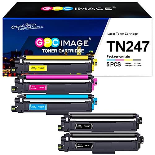 GPC Image 5 Pack TN247 TN243 Toner Kompatibel für Brother TN-247 TN-243 TN-243CMYK für Brother MFC-L3750CDW DCP-L3550CDW MFC-L3770CDW MFC-L3730CDN HL-L3210CW HL-L3230CDW MFC-L3710CW L3510CDW L3270CDW