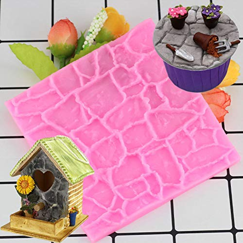 SHEANAON DIY Stone Wall Line Texture Cake Border Silicone Mold Fondant Chocolate Mould Cake Decorating Tools Cookie Cupcake Baking Moulds