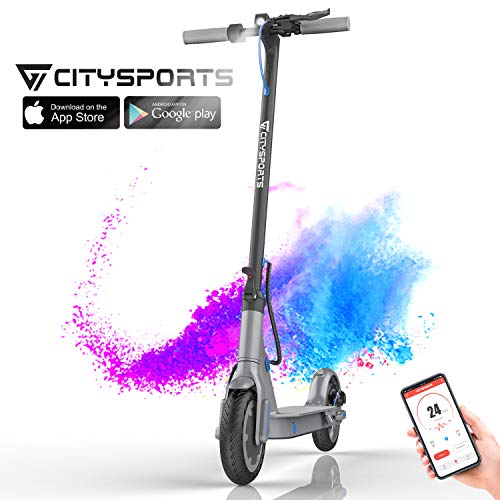 "CITYSPORTS Trottinette Electrique 8,5"", Trottinette Pliable avec APP & Bluetooth, Batterie 7.5Ah..."