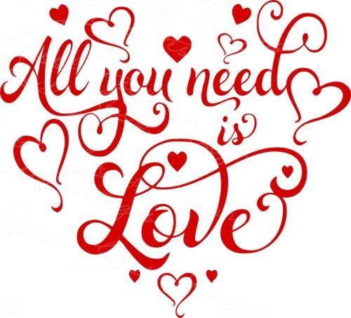 Calcomanía de vinilo All You Need is Love