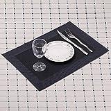 """6 x Tischset / Tischmatten / Platzset / Platzdeckchen aus Kunststoff """"Heidi"""" (Schwarz) - 4"""