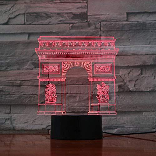 Arc De Triomphe Triunfo Arco Lámpara De Ilusión 3D Bonita Para Navidad Decorativa Usb Led Lámpara De Luz Nocturna Mejor Recompensa Para Regalo Adolescente Para Niño
