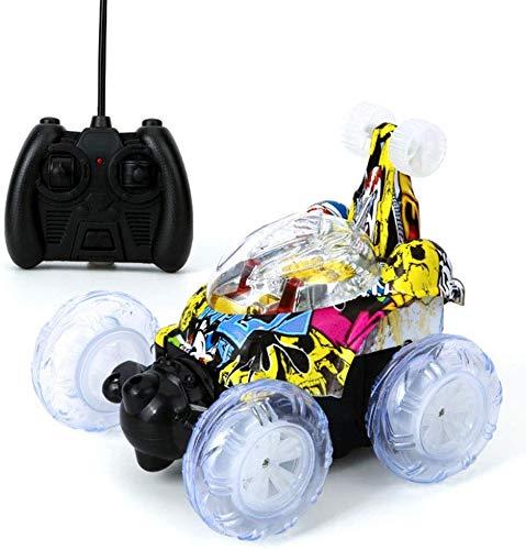 FEE-ZC Festival de Regalo de Doble Cara RC Stunt Car con luz Mini niños Simulación Pull Back Cars...