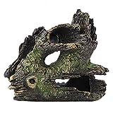 SunshineFace Acuario de madera deriva decoración de árbol de resina artificial tronco para ornamentos de tanque de pescado (ST-004C)