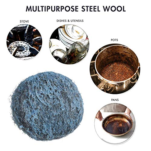 Product Image 3: 20 Pack Steel Wool Soap Pads – Metal Scouring Cleaning Pads for Dishes, Pots, Pans, and Ovens – Pre-Soaped for Easy Cleaning of Tough Kitchen Grease and Oil