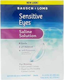 Bausch and Lomb Sensitive Eyes Saline Solution -- 24- oz Per Box (Value Pack of 4)
