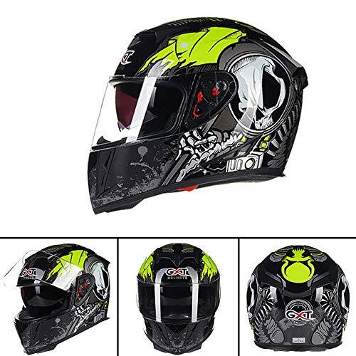 Motorrad Motor Enduro Rennen Doppelsport Go Kart Cross Country Helm Herren Full Half Exposure Four Seasons Komfortable Mode,Black,XL