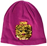 LEGO Wear Girls Snow Beanie With Character On Front, Dark Pink, 8-11 Yr
