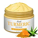 Turmeric Facial Mask,Turmeric Mud Mask with Vitamin C Kaolin Clay and Turmeric for Radiant Skin,Organic Turmeric Face Mud Mask for Deep Cleansing Blackheads and Acnes Control (4 oz)