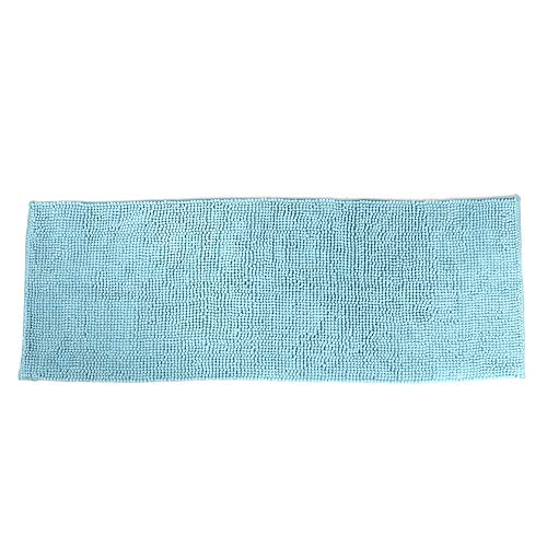 Oumefar Alfombrilla para pies de 50x140cm Alfombra de Piso Azul Claro Que Reduce la presión y la Fatiga Fácil de cuidar y Lavar Alfombra de Cocina Antideslizante para Cocina Dormitorio Baño