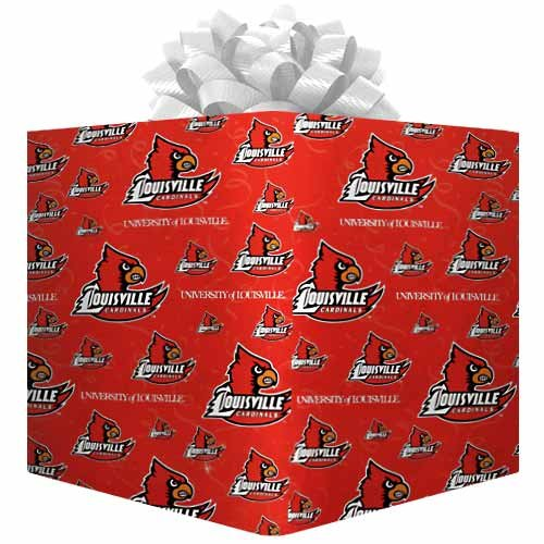 Football Fanatics NCAA Louisville Cardinals Logo Gift Wrap Paper - Cardinal