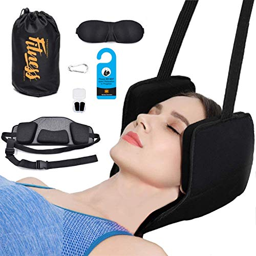 Hammock for Neck - Head Hammock to Relax Relief Neck Shoulder Pain Durable Neck Massager Portable Cervical Traction Support Stretcher Relaxation Improve Sleeping Posture