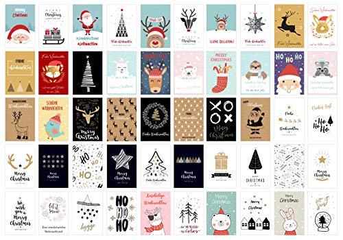 Edition Seidel Set 100 Weihnachtspostkarten (2x50) Weihnachten Karten Postkarten Weihnachtskarten