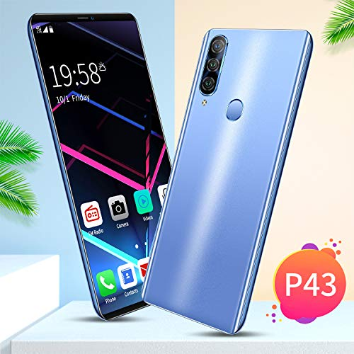 NA P43 Smartphone 5.72inch HD Screen 6G RAM+64G ROM Memory 8MP+16MP Camera 4000mAh Battery with Android 9.1 OS