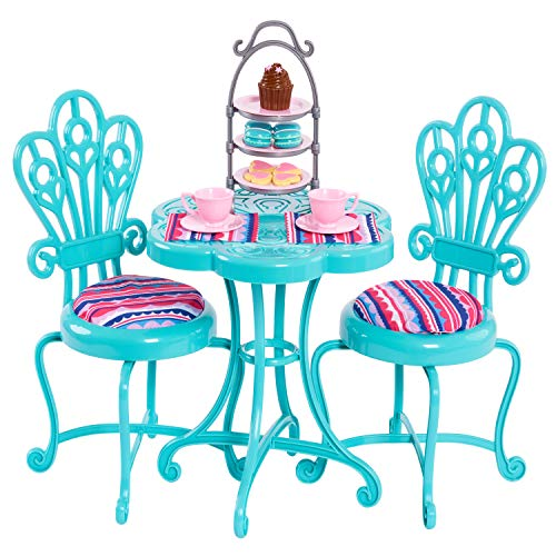 Journey Girls Bistro Table Set for Journey Girl Dolls, Includes Table, Two Chairs, and Play Food Accessories - Amazon Exclusive